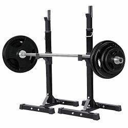deals on yaheetech pair of adjustable squat rack standard