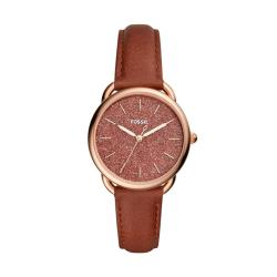 Fossil Tailor Women Brown Leather Watch