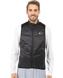 Nike Men's Polyfill Running Vest Black reflective Silver Size Large