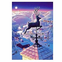 "TWBB Diy 5D Diamond Painting Kit Diamond Sticker Stitch Painting Sets Christmas Moose 12""X16"" 1"