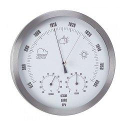 ANVI Barometer Thermometer Hygrometer - Stainless Steel - Circular 230X47MM