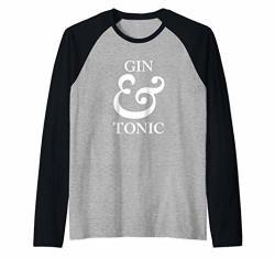 Gin And Tonic Design Raglan Baseball Tee