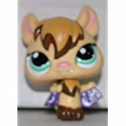 Vampire Bat 1680 Tan Green Eyes - Littlest Pet Shop Retired Collector Toy - Lps Collectible Replacement Single Figure - Loose Oop Out Of Package & Print