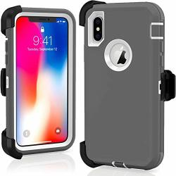 Fastsun Apple Iphone Xr Defender Case Protective Hybrid Rugged Tpu Shockproof Defender Case Dual Layer Design Hard Coverwith Free Belt Clip 360 Rotation For