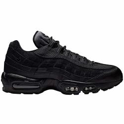 Nike Mens Air Max 95 Essential Leather Textile Black Anthracite White Trainers 11 Us