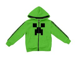 MINECRAFT - Creeper Youth Hoodie - Green 9-10 Years