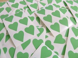 Minilabel 22X20MM Light Green Heart Shaped Labels 90 Self-adhesive Color Code Stickers Sticky Hearts For Craft And Decoration