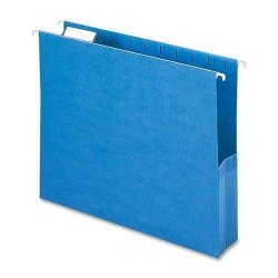"Smead 64250 64250 Sky Blue Colored Hanging Pockets With Tab - Letter - 8.50"" Width X 11"" Length Sheet Size - 2"" Expansion"