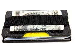 Carbon Mgcftan Fiber Glossy Money Clip Credit Card Business Card Holder 2 Plates Black