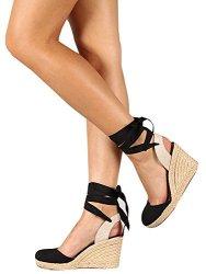 Ermonn Womens Platform Wedge Sandals